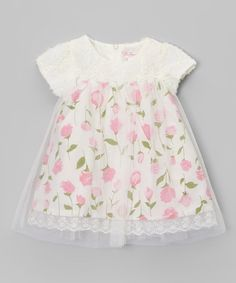 Look what I found on #zulily! Pink Rose Dress - Infant #zulilyfinds