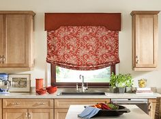 country kitchen roman blinds tutorial relaxed shade valance grrrr found 6136