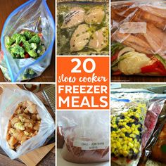 Make dinnertime quick and easy with these slow cooker freezer meals that you can make now and cook later.