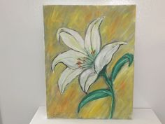 Acrylic on Canvas Easter Lily