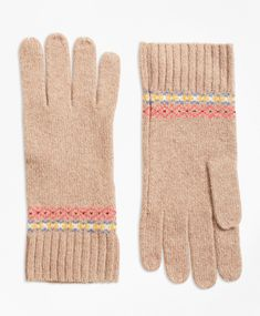 bf4338e0695 Merino Wool-Blend Fair Isle Gloves
