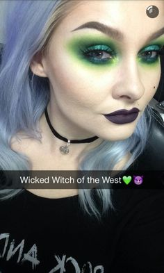 Wicked Witch of the West inspired makeup