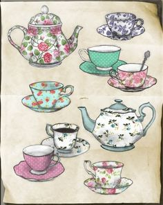 Floral | Teapots and Teacups