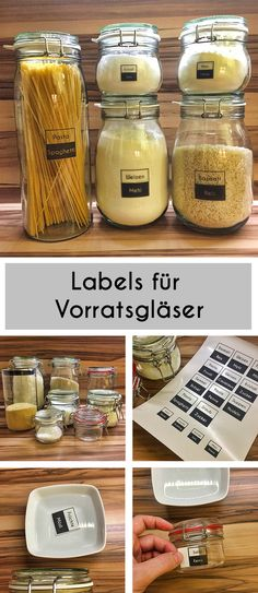 DIY Labels für Vorratsgläser Diy And Crafts, Sweet Home, Printables, Projects, Handmade, Aga, Tricks, Home Decor, Congratulations
