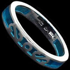 Sterling silver ring, resin
