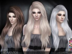 Heaventide (Female Hair): Download • 18 colors • Hat support • All LOD's • Teen…