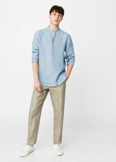 Cuello Estilo Camisa Varon Imágenes Mao De 19 Mejores Hombre 8qfBwX