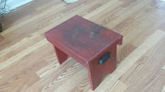 Reclaimed Wood step stool- Barn Red toddler and kids step stool- gift idea for baby and kids