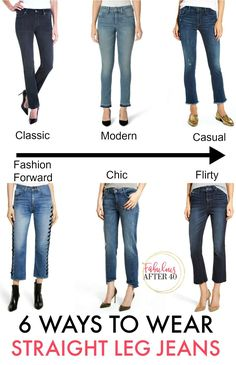 How to wear the new straight leg jeans for Spring 2018 | Fabulous After 40  #styleover40 #fashionover40