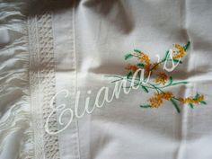 toalla macrame y bordado. DIY