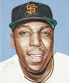 Willie McCovey portrait by Andy Jurinko