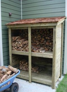 Storage And Organization , Firewood Shed Storage : Vintage Small Side Firewood Shed