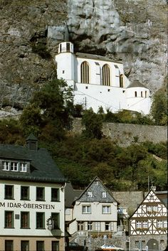 Church, built in mountain in Idar Oberstein, Germany    Have spent alot of time in this town. This is where my Mom-in-law is from & where lots of cousins live.