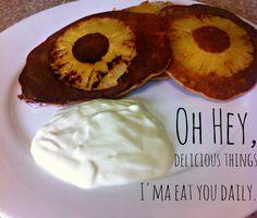 Paleo pancake-pineapple fritters