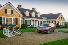 The winner of the HGTV Dream Home 2015 Giveaway will receive The 2015 GMC Acadia Denali. Win A House, Pea Gravel Patio, Dream Home Gym, Hgtv Dream Homes, Farmhouse Architecture, Just Dream, Coastal Living, Beautiful Homes, House Plans