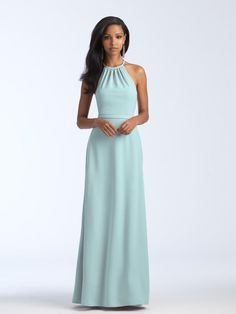 78134d52a4 Size 14 Light Green Allure 1570 Stretch Crepe Bridesmaid Dress