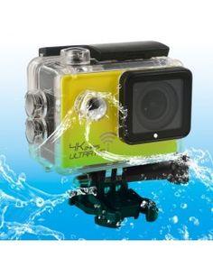 SJ8000 WiFi Novatek 96660 Ultra HD 4K 2.0 inch LCD Sports Camcorder with Waterproof Case, 170 Degrees Wide Angle Lens, 30m Waterproof(Yellow)