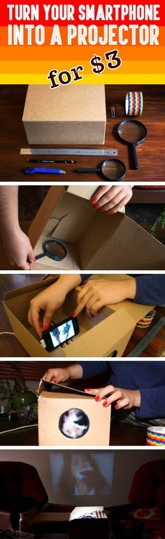 How To Turn Your Smartphone Into A Projector diy craft crafts reuse easy crafts diy ideas diy crafts crafty diy decor craft decorations how to home crafts recycle tutorials teen crafts