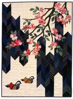 Springtime Dogwood, quilt / wall hanging pattern, in:  Asian Elegance by Kitty Pippen and Sylvia Pippen  (Martingale)
