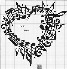 Cross Stitch Processing - Cross-Stitch Processing We have prepared mixed samples from you. Baby canvas templates, cross stitch towel templates, dashboard templates and many mor. Cross Stitch Music, Cross Stitch Heart, Cross Stitch Alphabet, Beading Patterns, Embroidery Patterns, Crochet Patterns, Cross Stitch Designs, Cross Stitch Patterns, Cross Stitching