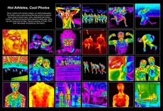 AlienVision-Thermographic-View-of-Sports-Collage  La thermographie et le sport