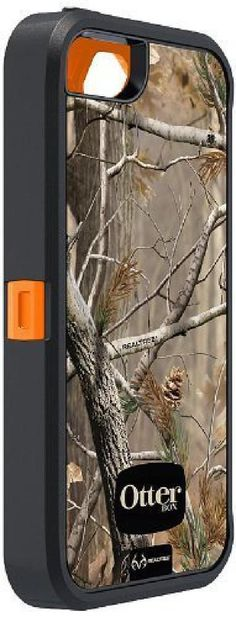 OtterBox Defender Series Case with Realtree Camo for Apple iPhone 5 - Xtra Orang #OtterBox