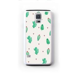 Small green cactus open pattern for Galaxy S5