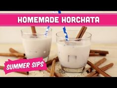 Mexican Horchata Recipe! Summer Sips In Sixty Seconds - Mind Over Munch - YouTube