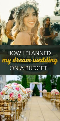 Wedding Budget I found a genius way to cut the costs of my wedding -- without sacrificing quality. Budget Wedding, Chic Wedding, Wedding Tips, Perfect Wedding, Fall Wedding, Wedding Planner, Our Wedding, Dream Wedding, Wedding Ceremony