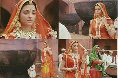 Jodha bai in movie Jodha Akbar Jodhaa Akbar, Aishwarya Rai Bachchan, Wedding Prep, Indian Couture, Movie Costumes, Bridal Beauty, Indian Sarees, Most Beautiful Women, Indian Outfits