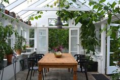 Conservatory and diningroom