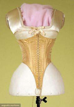 Tan Silk Swiss Waist, 1860s