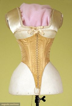 Tan Silk Swiss Waist, 1860s