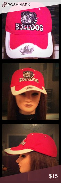 GA BULLDOG EMBROIDERED BALL CAP NWT IN 1st PIC PART OF STITCHING IS MISSING  MAKE ME AN OFFER, BUNDLE OR ASK ANY QUESTIONS ♥️ Accessories Hats