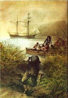 Treasure Island by Robert Louis Stevenson, illustrated by Robert Ingpen..