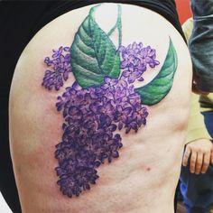 Purple Lilac Tattoo