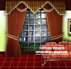 Classic Curtain designs Greek style, white curtain design