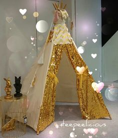Boho glam in gold! By teepeelicious Boho Style, Boho Fashion, Party Ideas, Gold, Handmade, Decor, Bohemian Fashion, Hand Made, Decoration