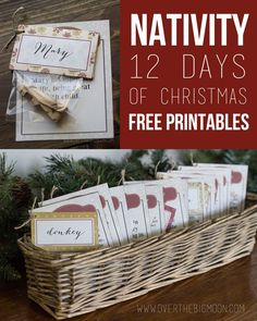 12 Days of Christmas Nativity Countdown Printables