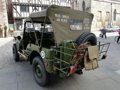U.S. Army Jeep, 1940's Weekend, Lincoln Cathedral quarter, Aug. 10-11, 2019. Photo by L. Riley.