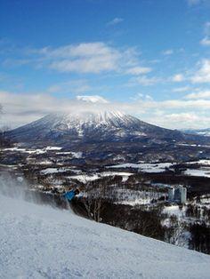 View of Mt. Yotei  from the Niseko Village resort Japan