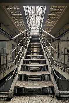 """Stairs To Light"" by ZerberuZ ....inside an abandoned prison"