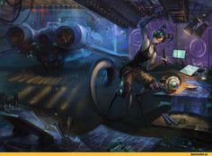 Sci-Fi,art,арт,deadro,vortian,vort,mechanic