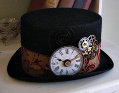 Steampunk Top Hat | Just a few more steampunk hats that I had a great time with! (yes that ...