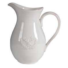 Ceramic Deer Pitcher Size: 17cm x 19cmH Please Note: All Prices are GST Inclusive