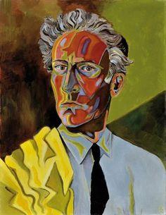 Jean Cocteau Autoportrait à la veste jaune, 1952, oil on canvas, 65 x 50 cm. Private collectiion