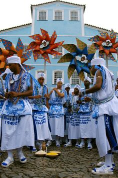 Carnival in Salvador, Bahia - Filhos de Ghandi (Ghandi's sons) is a percurssion group. Their beat goes straight in your heart!!!!
