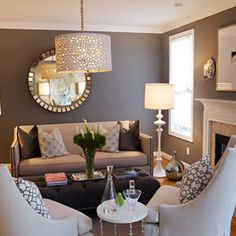 Love this glamorous living room design!