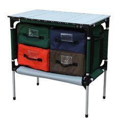 Gander Mountain Large Camp Organizer Table  $68 Love these.  They also had a nightstand size table.
