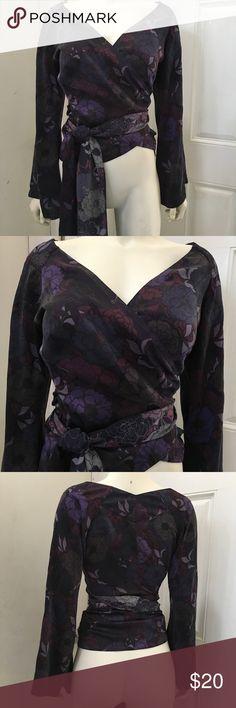 Banana republic silk wrap blouse. Great condition. Banana Republic Tops Blouses